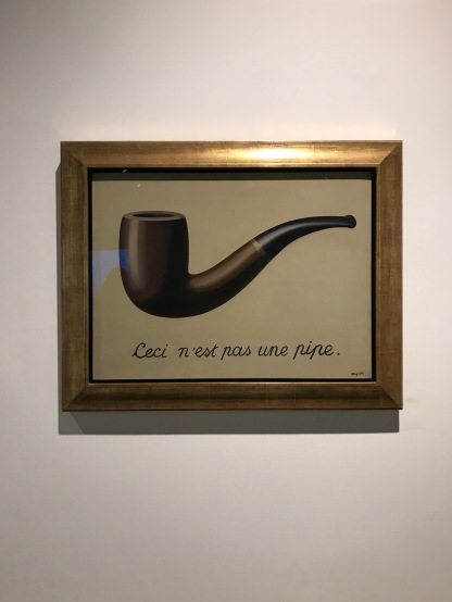 """The Treachery of Image"" by René Magritte, Brussels, Belgium, Jan. 2018"