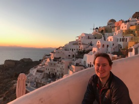 Oia Sunset, Santorini, Greece, Mar. 2018