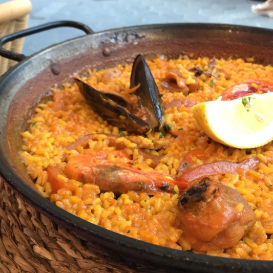 Seafood Paella, Benidorm, Spain, June 2018